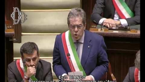 Enzo Bianco a Montecitorio: «Sindaci patrimonio della democrazia del Paese»