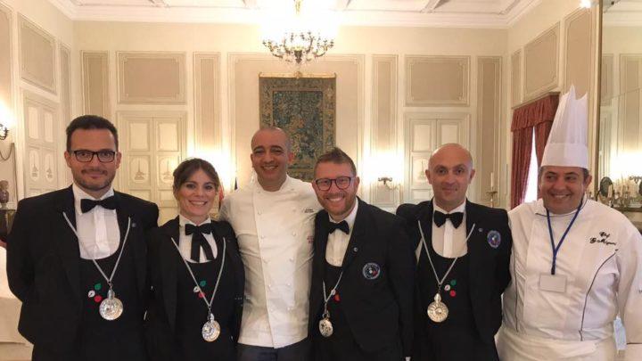 Lo Chef catanese Gianluca Mignemi al pranzo dei consorti del G7