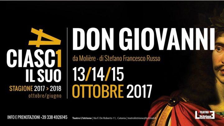 Teatro: Don Giovanni o il convitato di pietra