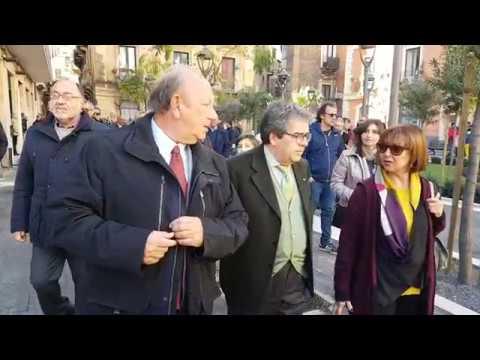 Lavori pubblici: Bianco consegna alla città piazza Sciuti