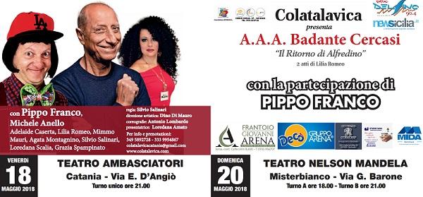 """""""A.A.A. BADANTE CERCASI"""" Il ritorno di Alfredino! CON PIPPO FRANCO"""
