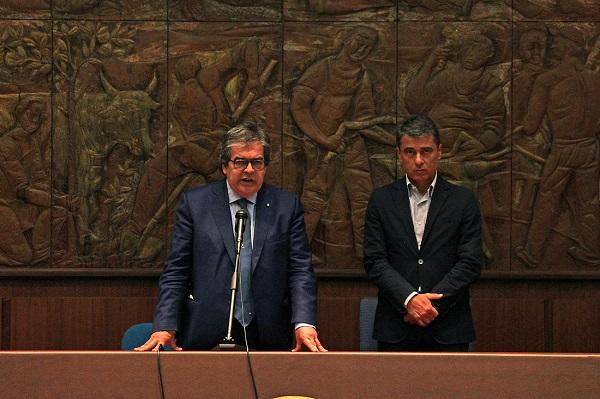 Enzo Bianco ha incontrato i dipendenti della città metropolitana di Catania per i saluti di fine mandato
