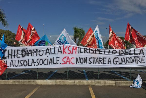 Sicurezza civile. Protesta dei lavoratori di Cgil, Uil e Ugl per il mancato subentro nell'appalto di vigilanza armata dell'aeroporto di Catania. Le trattative si spostano al tavolo della Prefettura.