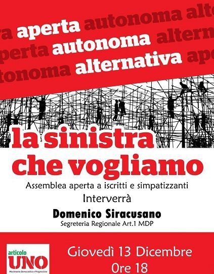 La sinistra in Italia fa il mea culpa e vuole ritornare alle origini
