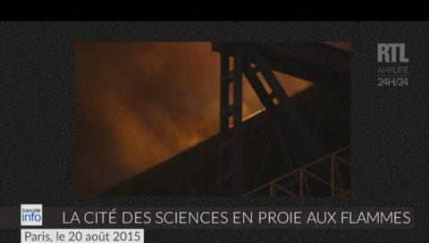 Brucia a Parigi la Città delle Scienze