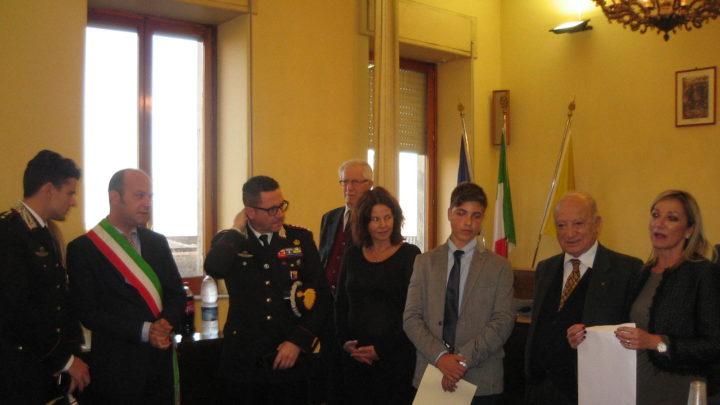 Premio alla bontà allo studente Francesco Simonte