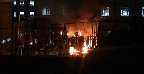 Violento incendio alla centrale elettrica Enel