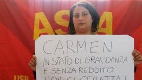 Catania. Il presidio ha vinto, bloccato lo sfratto di Carmen