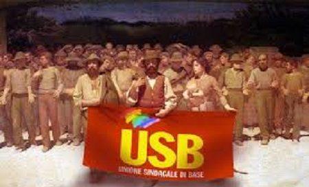 """USB Vigili del Fuoco al Viminale : """"Adesso basta! Vogliamo un contratto che ci dia soldi e diritti""""."""