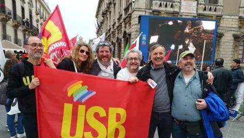 Manifestazione del 25 Aprile all'insegna dell'antifascismo militante