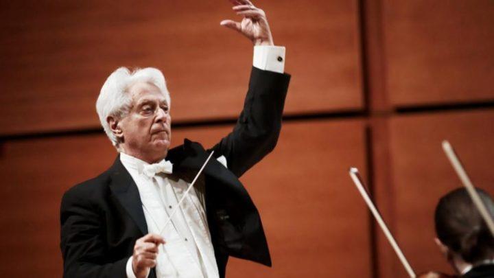 Locandina e annuncio del concerto sinfonico corale al Teatro Massimo Bellini