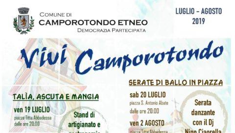Spettacoli d'estate a Camporotondo etneo.