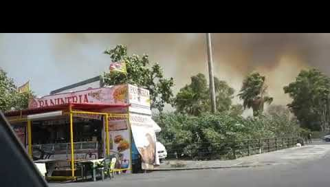 Incendio alla PLAIA di Catania