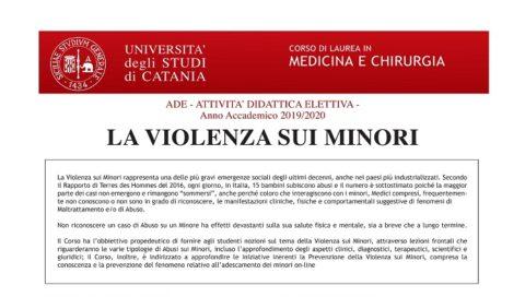 """ADE, l'Attività Didattica Elettiva sul tema """"La violenza sui minori"""" presso la Facoltà di Medicina e Chirurgia di Catania"""