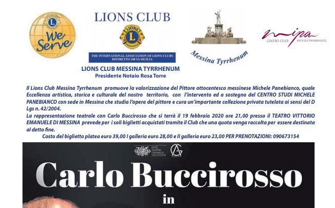 Carlo Buccirosso il 19 febbraio al Vittorio Emanuele di Messina