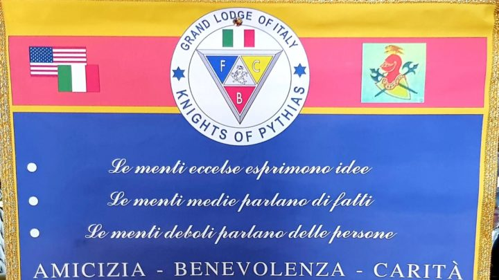 Cavalieri e Dame dell'Ordine dei Pythias : nuovi riconoscimenti per la sede catanese.