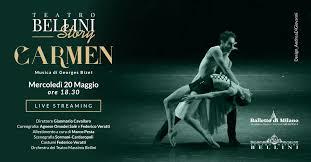 """Teatro Bellini Story, mercoledì 20 sui canali social """"Carmen"""" del Balletto di Milano"""