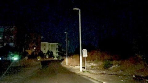 Viale Benedetto Croce e via Ota al buio