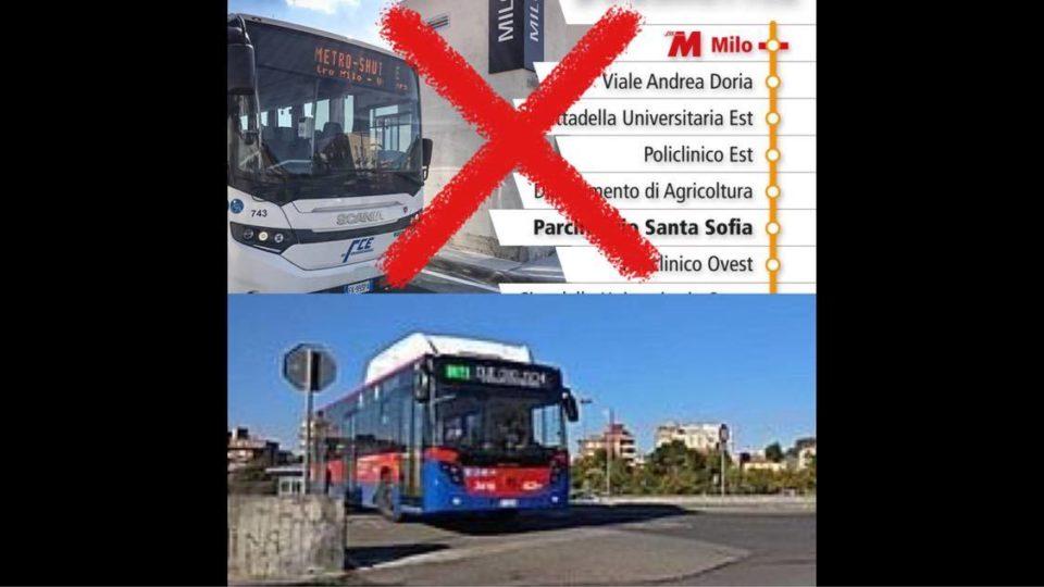Catania viaggia, ma all'indietro: soppresso il Metro Shuttle