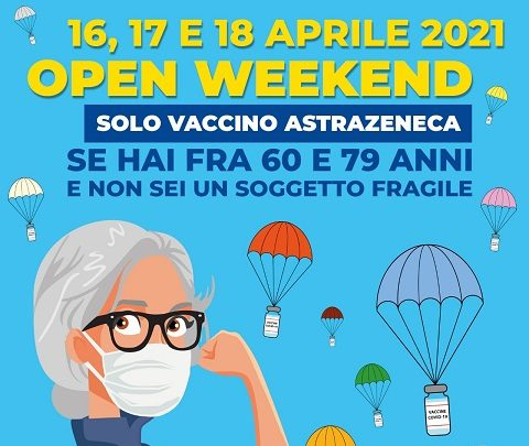 Dal 16 al 18 aprile, anche a Catania, l'Open Day di vaccinazioni, senza prenotazione, con AstraZeneca
