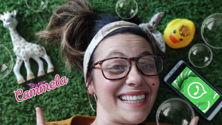 """La """"Cammela"""" del gruppo delle mamme, ovvero  l'attrice Chiara Anicito,  toglie la maschera e si svela come donna, mamma ed artista."""