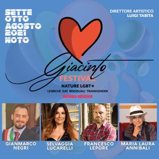 VII Edizione GIACINTO FESTIVAL – NATURE LGBT – Sabato 7 e domenica 8 agosto 2021 Noto (SR)