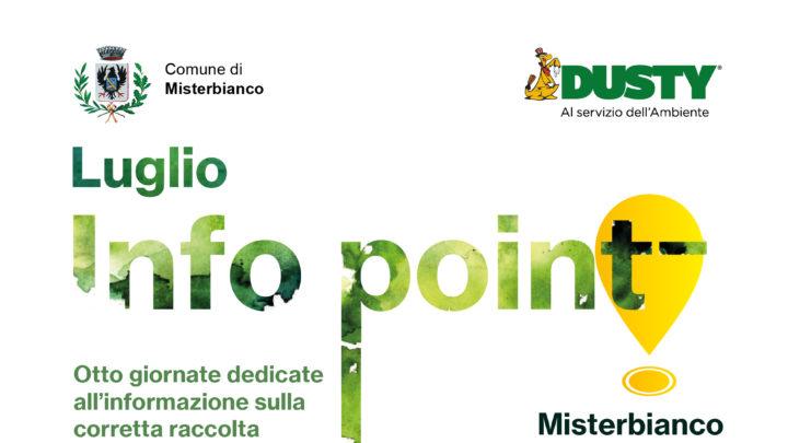 Rifiuti a Misterbianco> Info Point (nel mese di luglio) per aiutare i cittadini a fare la raccolta differenziata.