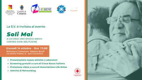A Catania uno spazio amico contro ogni solitudine, giovedì 14 ottobre a San Cristoforo la presentazione delle nuove attività del progetto Soli Mai